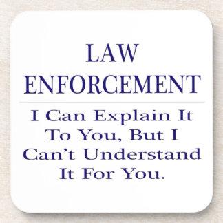 Chiste de la aplicación de ley. Explique para no Posavasos De Bebida