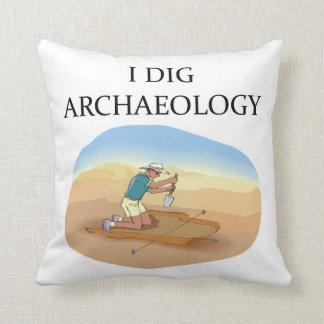 chiste de la arqueología cojín