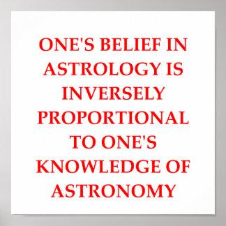 chiste de la astrología de la astronomía poster