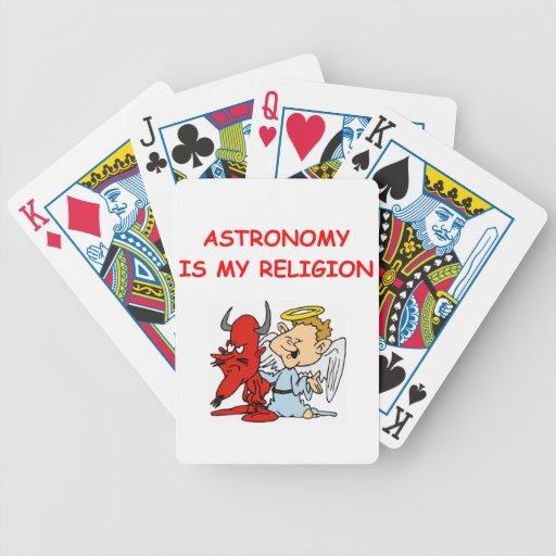 chiste de la astronomía cartas de juego