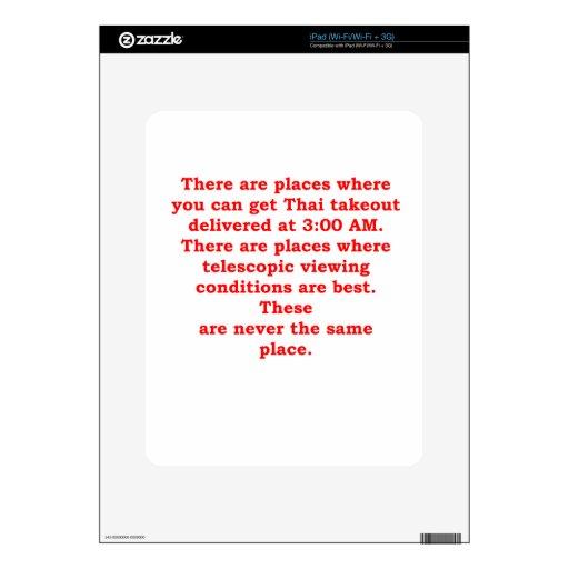 chiste de la astronomía iPad calcomanía