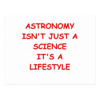 chiste de la astronomía postal