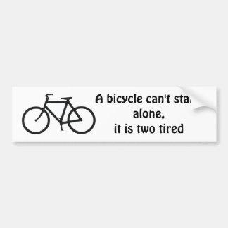 Chiste de la bici pegatina de parachoque