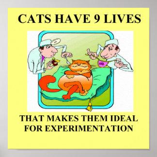 chiste de la biología de los enemigos del gato impresiones