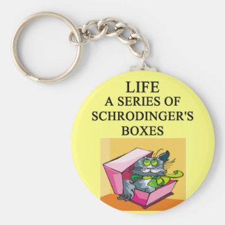 chiste de la caja del gato de los schrodinger llavero redondo tipo pin
