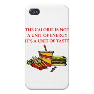 chiste de la caloría de la dieta iPhone 4 carcasas