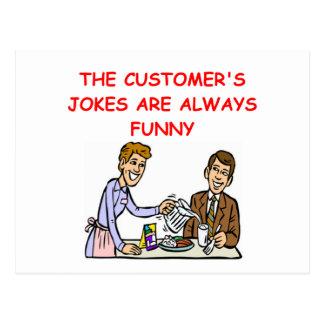 chiste de la camarera postal