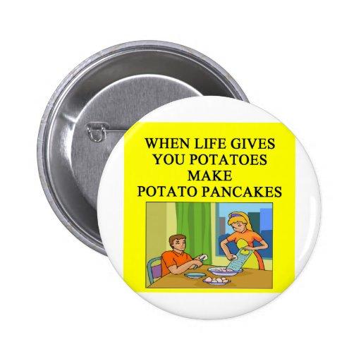 chiste de la crepe de patata de los latkes pins