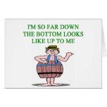 chiste de la depresión de la recesión tarjeta de felicitación