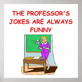 chiste de la educación poster