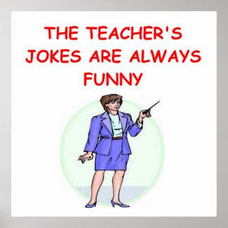 chiste de la educación posters