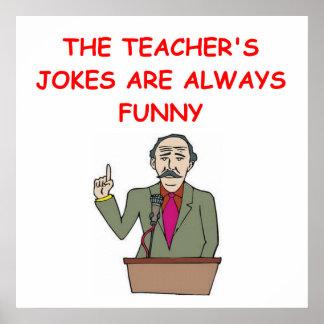 chiste de la educación póster