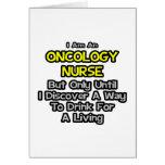 Chiste de la enfermera de la oncología. Bebida par Felicitacion