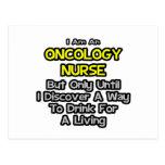 Chiste de la enfermera de la oncología. Bebida par Tarjetas Postales