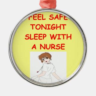 chiste de la enfermera adorno de navidad