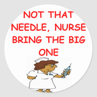 chiste de la enfermera del doctor pegatinas