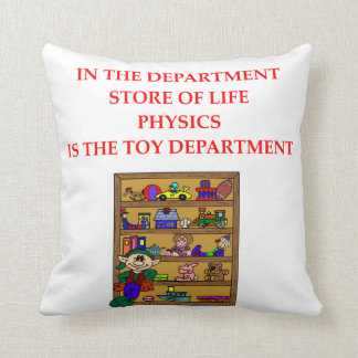 chiste de la física cojin