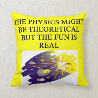 chiste de la física cojines