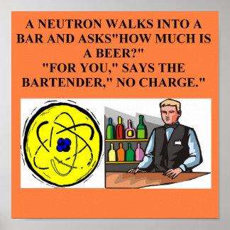 chiste de la física del neutrón posters