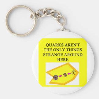 Chiste de la física del QUARK Llavero