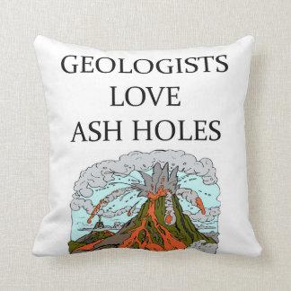 Chiste de la geología cojín decorativo