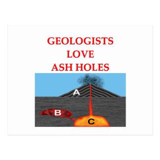 chiste de la geología tarjetas postales