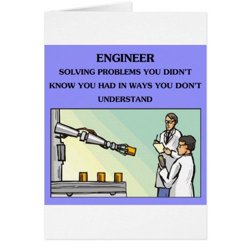 chiste de la ingeniería del ingeniero felicitación