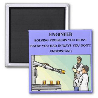 chiste de la ingeniería del ingeniero imán cuadrado