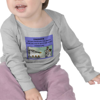 chiste de la ingeniería del ingeniero camisetas