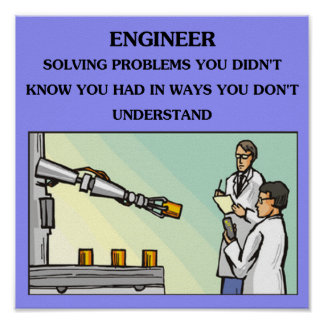 chiste de la ingeniería del ingeniero póster
