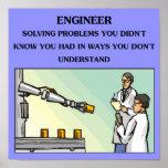 chiste de la ingeniería del ingeniero posters
