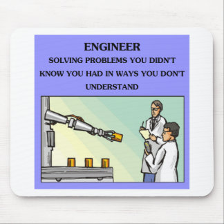 chiste de la ingeniería del ingeniero tapetes de ratón