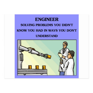 chiste de la ingeniería del ingeniero tarjeta postal