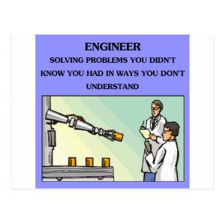 chiste de la ingeniería del ingeniero tarjetas postales