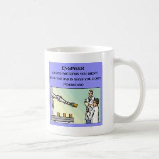 chiste de la ingeniería del ingeniero tazas