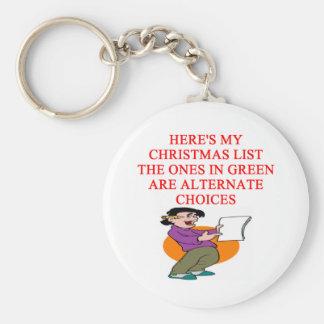 chiste de la lista del navidad llaveros