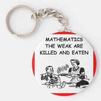 chiste de la matemáticas llaveros personalizados
