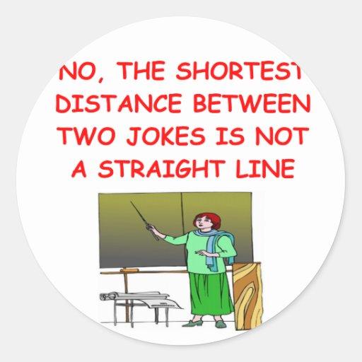 chiste de la matemáticas pegatina redonda