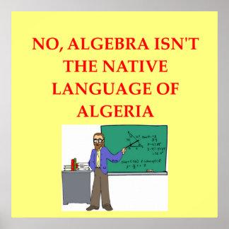 chiste de la matemáticas póster