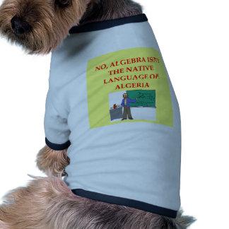 chiste de la matemáticas camisetas de perro
