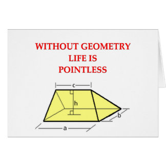 chiste de la matemáticas tarjeta de felicitación