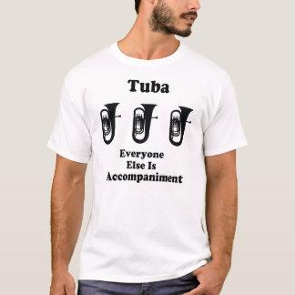 Chiste de la música de la tuba playera