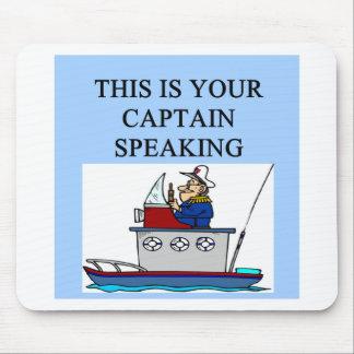 chiste de la navegación del canotaje del capitán tapetes de raton