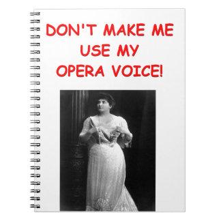 chiste de la ópera libro de apuntes con espiral