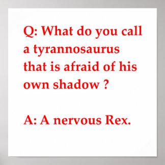 chiste de la paleontología posters