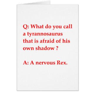 chiste de la paleontología tarjeton