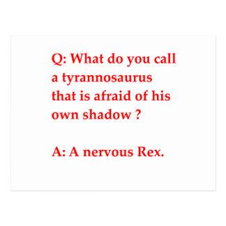 chiste de la paleontología postal