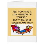 Chiste de la psicología tarjeta