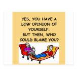 Chiste de la psicología tarjeta postal