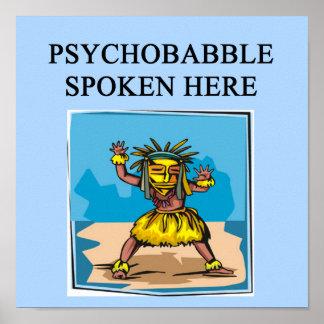 chiste de la psiquiatría de la psicología póster